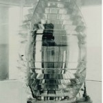Fourth order Fresnel lens – red glass shade inside made its beam bright red.